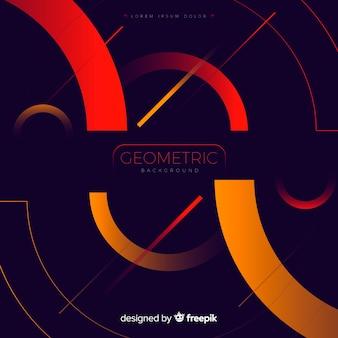 Geometryczne tło z kształtami gradientu