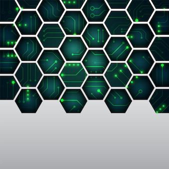 Geometryczne tło zaawansowanej technologii