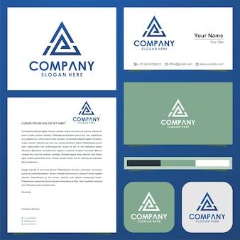 Geometryczne trójkątne litery ae logo
