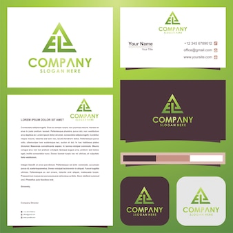 Geometryczne trójkątne logo eal