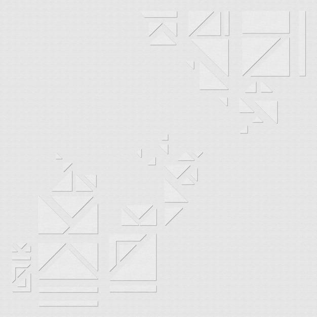 Geometryczne trójkąty na szarym tle wektor zasobów projektu