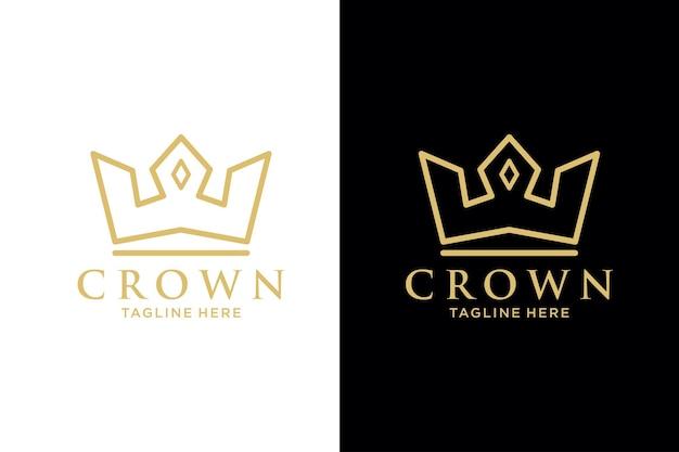 Geometryczne vintage creative crown streszczenie logo szablon wektor projektu. vintage crown logo royal king queen koncepcja symbol ikona koncepcja logo.