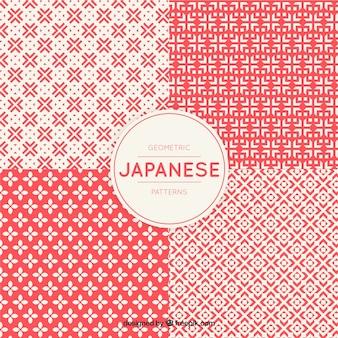 Geometryczne wzory w stylu japońskim