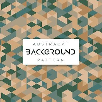 Geometryczne zielone i złote płytki vintage ceramiczne tło