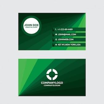 Geometryczne zielone wizyta karty