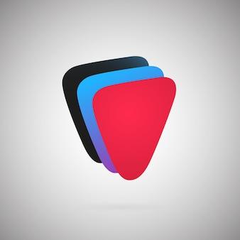 Geometryczny abstrakcyjny szablon ikona kolorowa ilustracja wektorowa