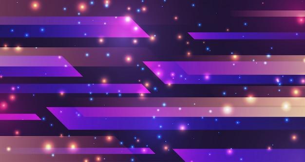 Geometryczny blask tła neon niesamowite