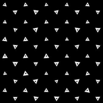 Geometryczny czarny wzór z białymi trójkątami