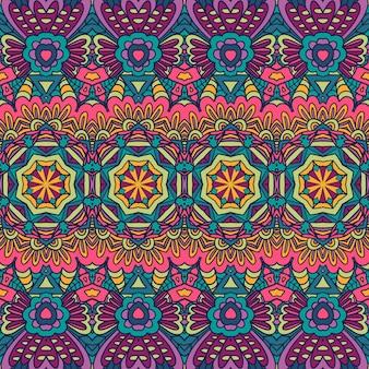 Geometryczny etniczny druk abstrakcyjny dekoracyjny wektor bezszwowy ozdobny wzór