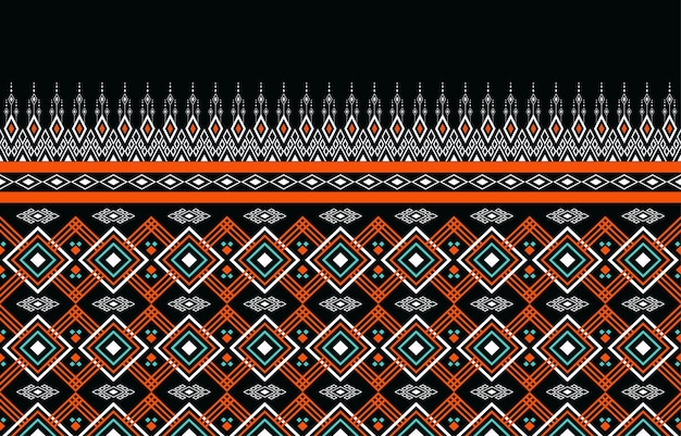 Geometryczny etniczny orientalny wzór bez szwu tradycyjny