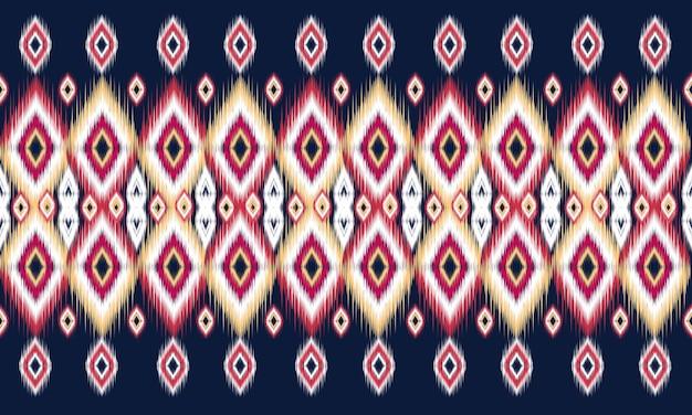 Geometryczny etniczny orientalny wzór ikat tradycyjny