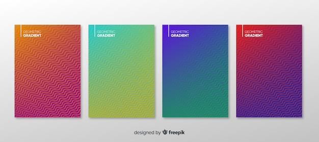 Geometryczny gradient plakat kolekcja