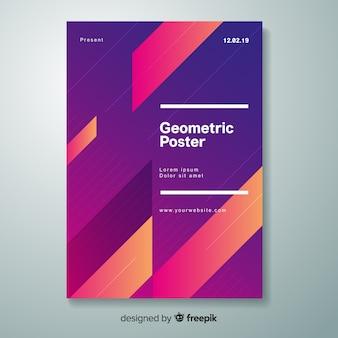 Geometryczny Gradientowy Plakat Darmowych Wektorów