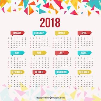 Geometryczny kalendarz 2018