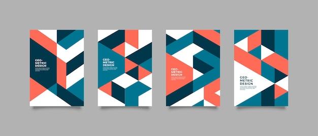 Geometryczny kolorowy projekt okładki