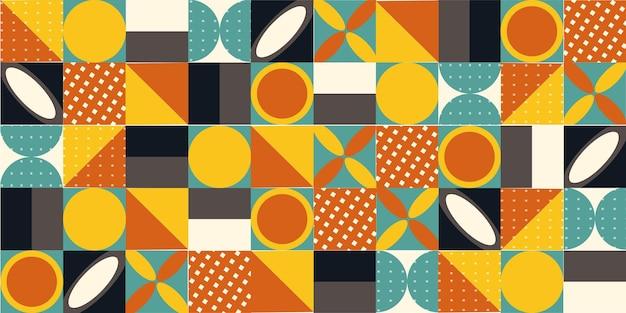 Geometryczny kolorowy wektor wzór. modne elementy geometryczne. projekt plakatu retro