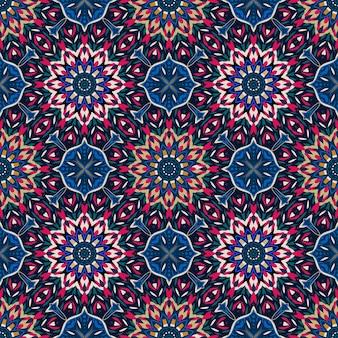 Geometryczny kolorowy wzór mandali
