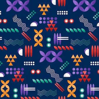 Geometryczny kolorowy wzór z teksturą ziarna