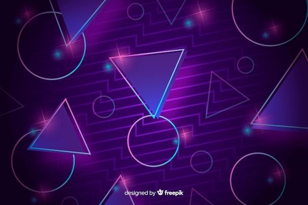 Geometryczny kształt tła lat osiemdziesiątych stylu