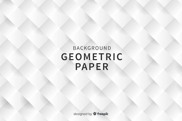 Geometryczny kwadrat kształtuje tło w stylu papieru