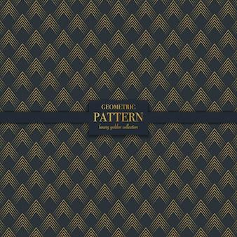 Geometryczny luksusowy złoty abstrakcyjny wzór tekstury linii