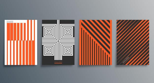 Geometryczny minimalistyczny projekt ulotki, plakatu, okładki broszury, tła, tapety, typografii lub innych produktów poligraficznych. ilustracja wektorowa.
