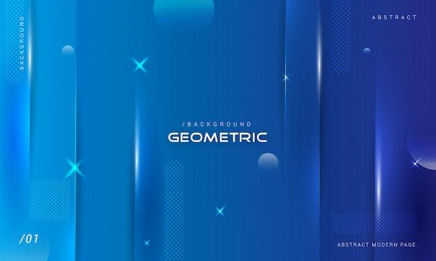 Geometryczny niebieski pasek tła