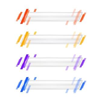 Geometryczny nowoczesny dolny trzeci szablon banera