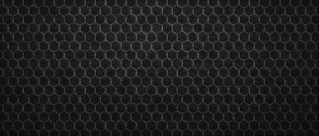 Geometryczny ornament ciemny sześciokątów tło. maswerkowe wielokątne płytki gradientowe ułożone w abstrakcyjny sposób