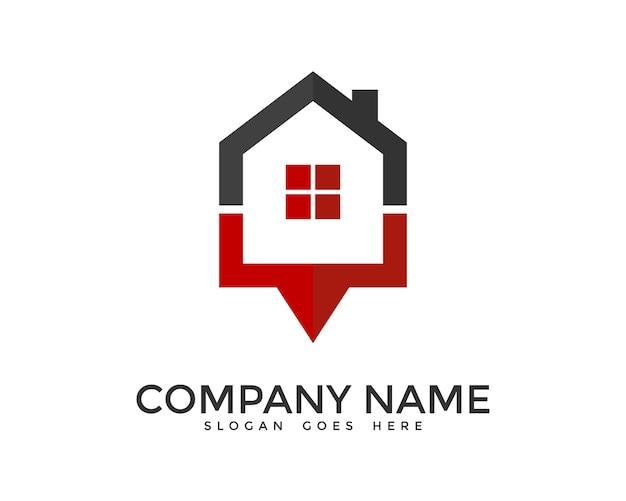Geometryczny projekt logo domu