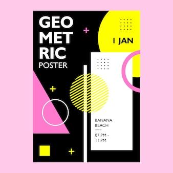 Geometryczny projekt plakatu o kolorowym kształcie