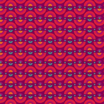 Geometryczny psychodeliczny groovy wzór