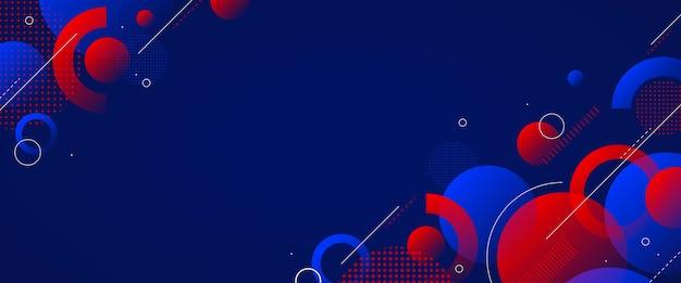 Geometryczny szablon okładki aplikacji z kształtami