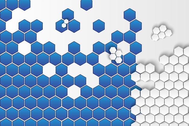 Geometryczny sześciokątny abstrakcyjny szablon tła