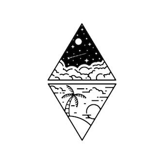 Geometryczny tatuaż
