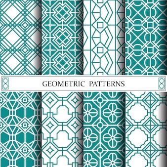 Geometryczny wektor wzór ośmiokąt na tle strony internetowej