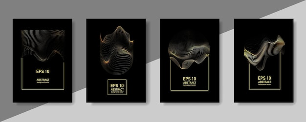 Geometryczny wzór abstrakcjonistyczny złoty tło. szablon plakat transparent gradientu.