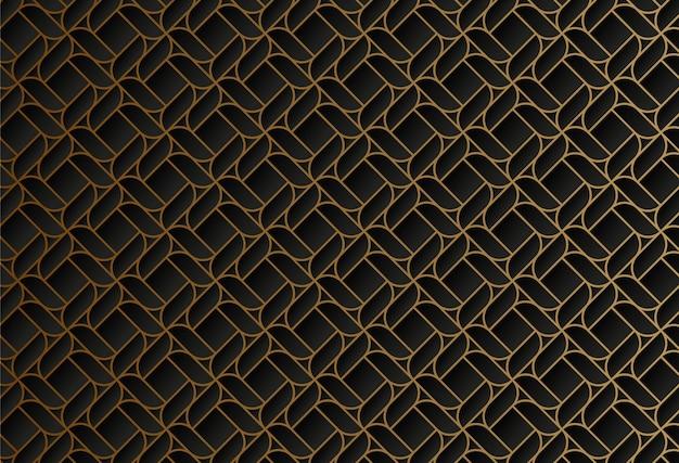 Geometryczny wzór ciemnej złotej linii