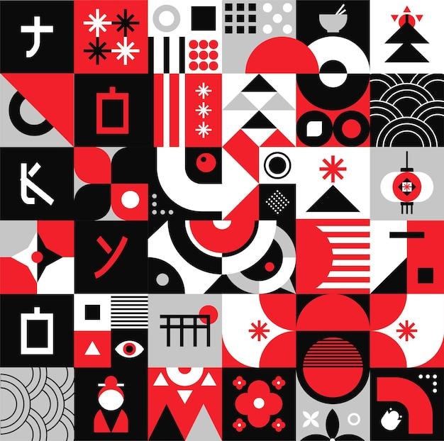 Geometryczny wzór do druku grafiki internetowej, plakatów, ulotek i tła