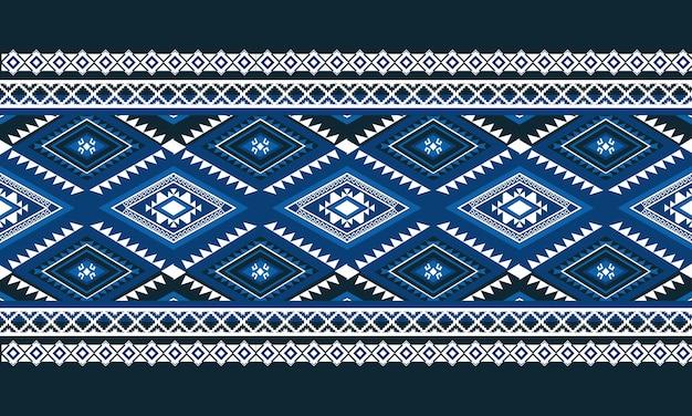 Geometryczny wzór etniczny bez szwu. projekt tła, dywan, tapeta, odzież, opakowanie, batik, tkanina, styl ilustracji wektorowych.