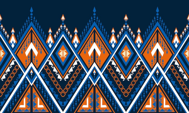 Geometryczny wzór etniczny haft .dywan, tapeta, odzież, opakowanie, batik, tkanina, styl haftu ilustracji wektorowych.
