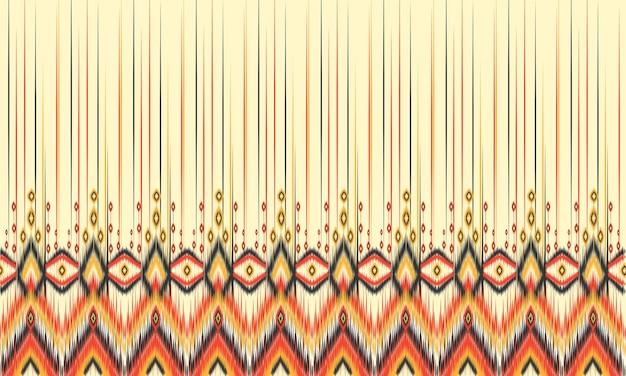 Geometryczny wzór ikat etniczne orientalne tradycyjne wzornictwo dla tła.