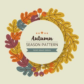 Geometryczny wzór jesień liście i gałązki