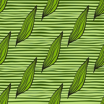 Geometryczny wzór liści organicznych linii. streszczenie tło botaniczne. kreatywna tapeta natura. projekt na tkaninę, nadruk na tkaninie, opakowanie, okładkę. prosta ilustracja wektorowa.