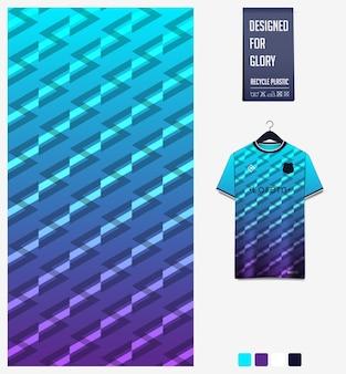 Geometryczny wzór na koszulkę piłkarską