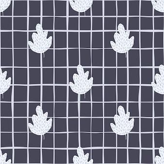 Geometryczny wzór retro dąb. tło wzór liści.