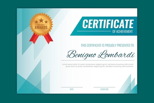 Geometryczny wzór szablonu certyfikatu