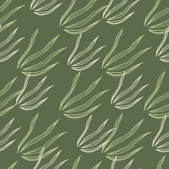 Geometryczny wzór trawy bazgroły. natura botaniczna tapeta.