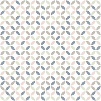 Geometryczny wzór w pastelowych kolorach.