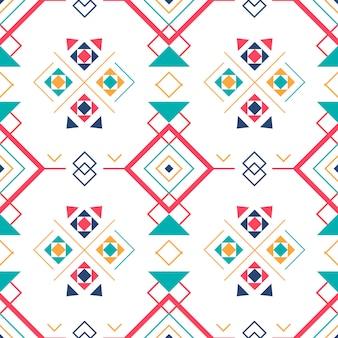 Geometryczny wzór z etnicznym ornamentem.